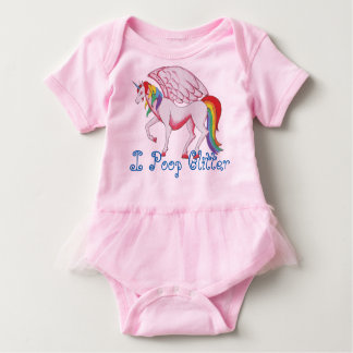 I Poop Glitter Baby Bodysuit