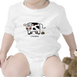 I Pooped - Funny Pooping Cow Infant Bodysuits