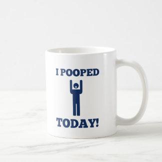 I Pooped Today Basic White Mug