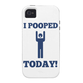 I Pooped Today Vibe iPhone 4 Cases