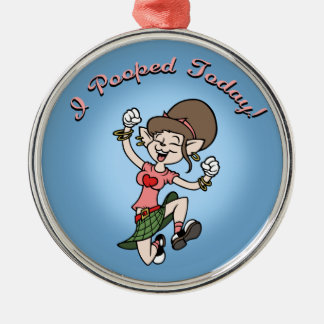 I Pooped Today! -f Christmas Ornament