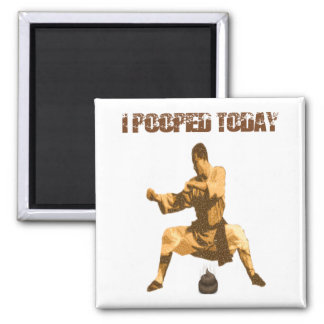 I Pooped Today! : karate crap Square Magnet