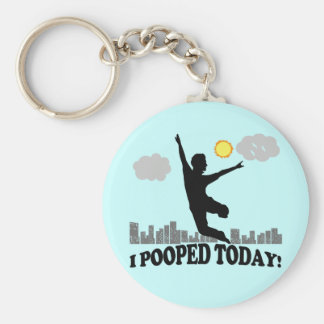 I Pooped Today Key Ring