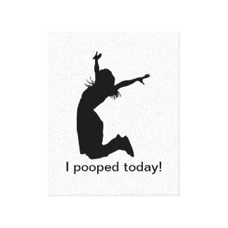 I pooped today wrapped canvas funny gift present canvas prints