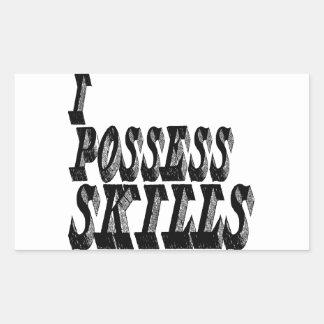I Possess Skills Rectangular Stickers