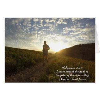 I Press Toward the Goal Philippians 3:14 Scripture Card