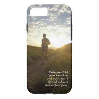 I Press Toward the Goal Philippians 3:14 Scripture iPhone 8/7 Case