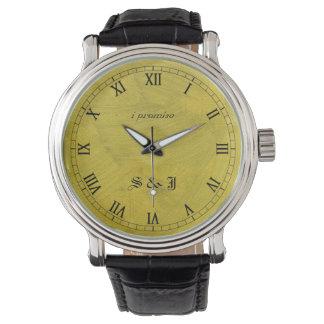 I Promise Brushed Gold Monogram Wristwatch