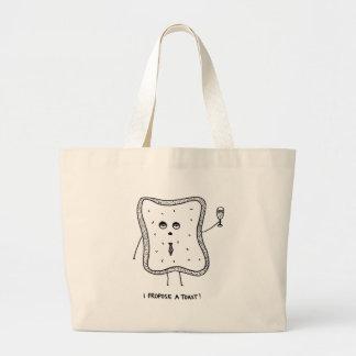 I Propose a Toast Large Tote Bag