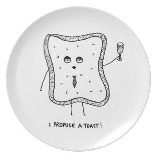 I Propose a Toast Plate