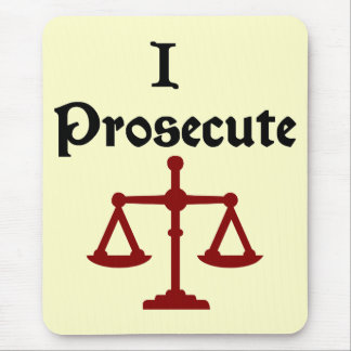 I Prosecute Lawyer Mousepad