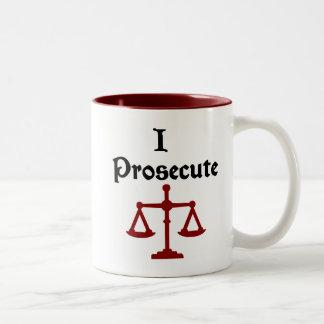 I Prosecute Lawyer Mug