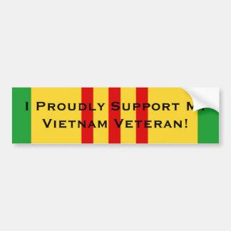 I Proudly Support My Vietnam Veteran Bumper Sticker