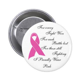 I Proudly Wear Pink 6 Cm Round Badge