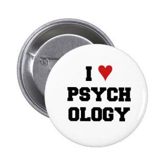 I ♥ PSYCHOLOGY 6 CM ROUND BADGE