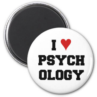 I ♥ PSYCHOLOGY 6 CM ROUND MAGNET