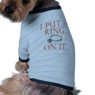 I Put a Ring on It Groom Engagement Dog Clothing