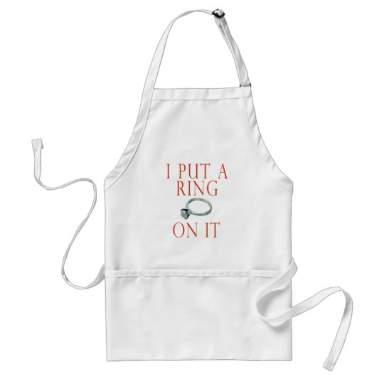 I Put a Ring on It Groom Engagement Standard Apron
