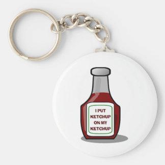 I put ketchup on my ketchup key ring