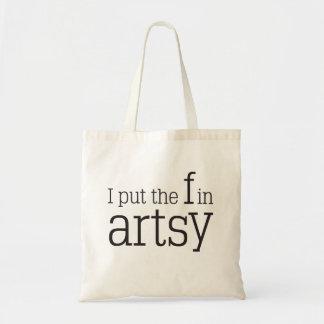 I put the F in Artsy Tote Bag - Artsy Fartsy