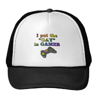 I put the GAY in Gamer Mesh Hat