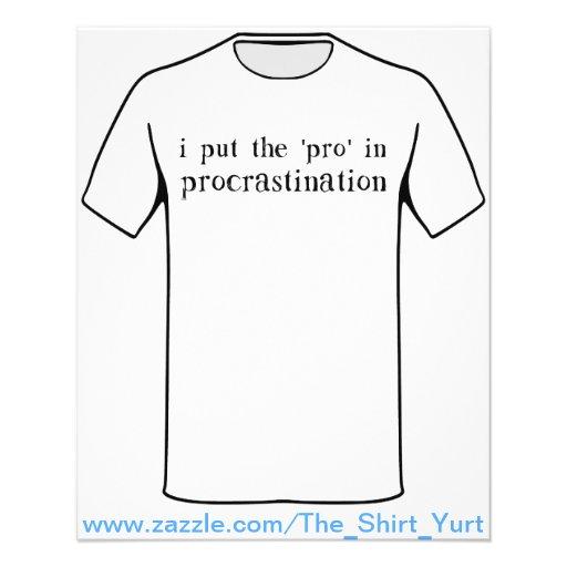 I Put the PRO in Procrastination Flyer Design