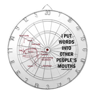 I Put Words Into Other People's Mouths (Anatomy) Dartboard With Darts