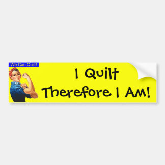 I quilt bumper sticker