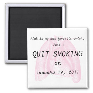 I quit smoking square magnet