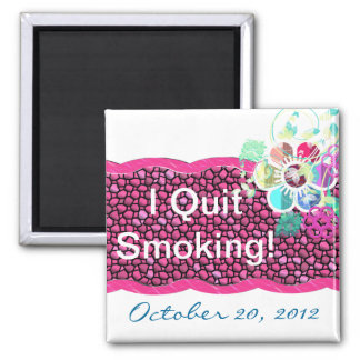 I Quit Smoking! Square Magnet