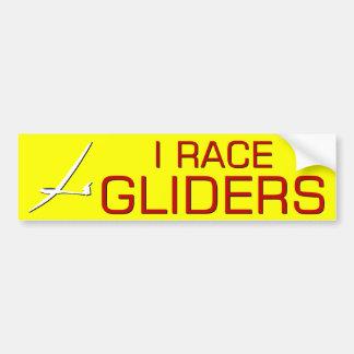 I RACE GLIDERS BUMPER STICKER