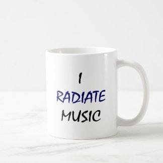 I Radiate Music Coffee Mugs
