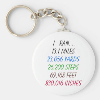 I Ran 13.1 Miles Basic Round Button Key Ring