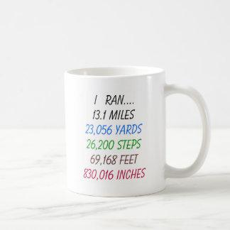 I Ran 13.1 Miles Coffee Mugs
