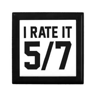 I Rate It 5/7 Small Square Gift Box