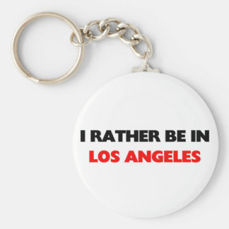 I rather be in los angeles basic round button key ring