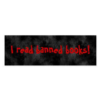 I read banned books Bookmarks Business Card Templates