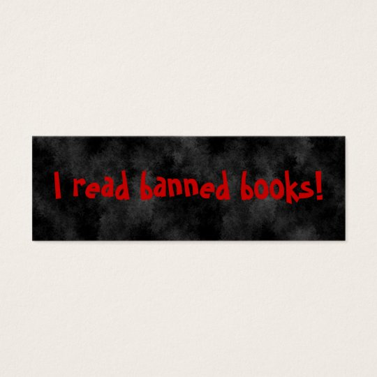 I read banned books Bookmarks Mini Business Card
