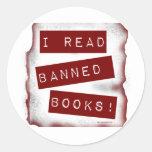 I read banned books! classic round sticker
