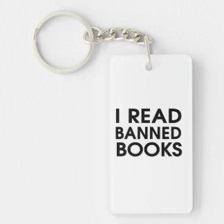 I Read Banned Books Single-Sided Rectangular Acrylic Key Ring