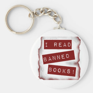 I read banned books! key ring