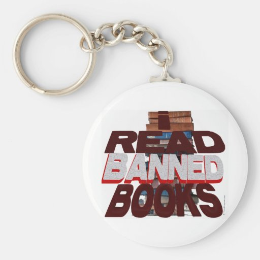 I READ BANNED BOOKS KEY CHAINS