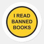 I Read Banned Books Round Sticker
