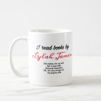 I read books by lylah James mug