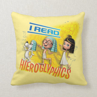 I Read Hieroglyphics Cushion