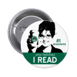 I Read Papers 6 Cm Round Badge