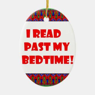 I read past my bedtime.jpg ceramic oval decoration