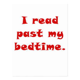 I Read Past My Bedtime Postcard