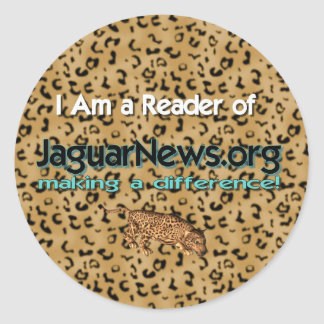I Read the Jaguar News Classic Round Sticker