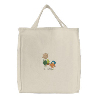 I Read - Tote Embroidered Bags